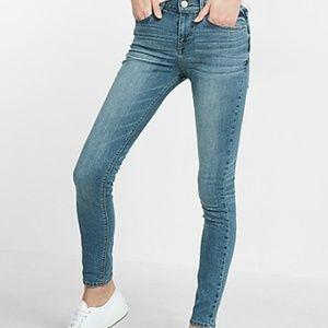 Express Light Wash Jean Leggings Size 2S